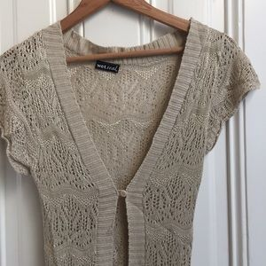 Wet Seal Tan Knit Hi Low Shrug
